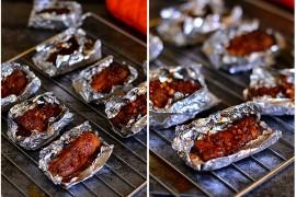 锡纸烤排骨的做法_番茄酱脆皮烤翅怎么做【QQ北鼻】