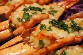 奶油蒜蓉烤大虾的做法大全_奶油蒜蓉烤大虾的家常做法怎么做好吃