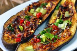 孜然香烤茄子的做法大全_孜然香烤茄子的家常做法怎么做好吃