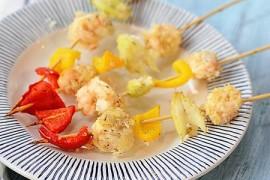 彩蔬烤虾球的做法_彩蔬烤虾球的家常做法大全怎么做好吃