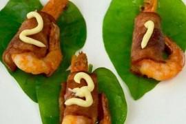 焗烤培根鲜虾卷的做法_焗烤培根鲜虾卷的家常做法大全怎么做好吃
