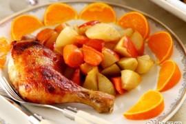 蔬果烤鸡腿的做法_蔬果烤鸡腿的家常做法大全怎么做好吃