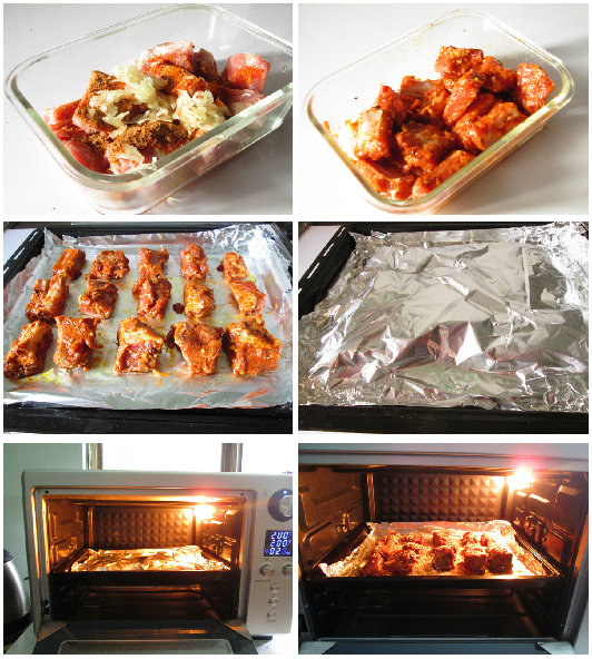 蒜香烤排骨的做法_蒜香烤排骨怎么做【西马栀子】